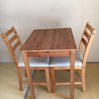 2名用のテーブルとイス2脚欲しい方!