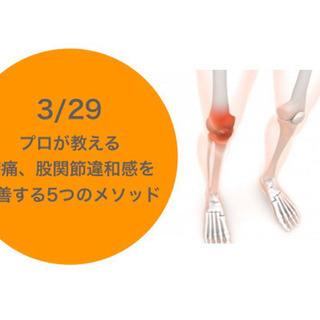 「膝、股関節痛」を改善する3つのセルフケアyoga講座