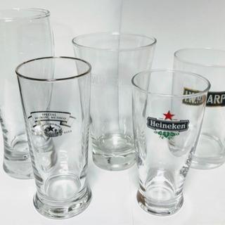 【USED】★ビールグラスいろいろ 5個★コップ