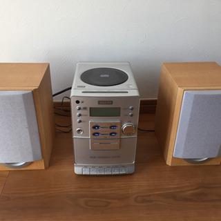 三洋 コンポ カセットテープ/CD/ラジオ