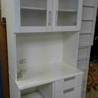 ニトリ(NITORI)レンジボード 食器棚 収納棚 ホワイト