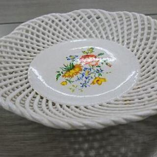 イタリア製 ITALY 菓子器 果物皿 フルーツプレート 網目
