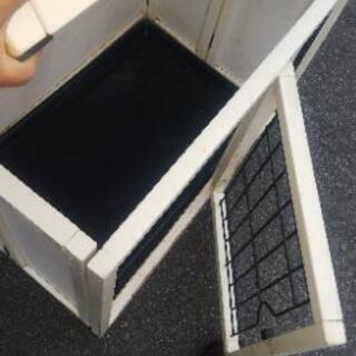 ペットゲージ②屋根あり木製折り畳み式 - その他
