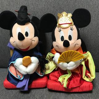 ミッキー&ミニーお雛様バージョン お人形