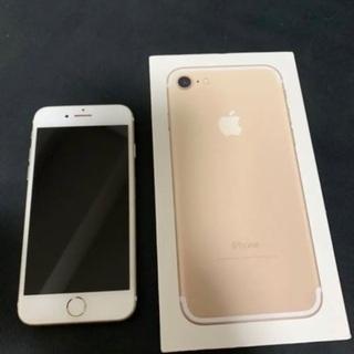 美品 SIMフリー iPhone7128GB ゴールド 元箱