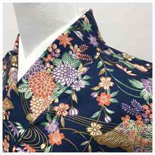 美品 未使用 単衣仕立て 紬 身丈155 裄63 織り出し 花...