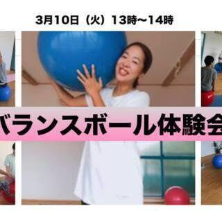 2020年3月10日(火)13時〜14時 バランスボール体験会