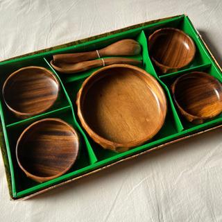 未使用品◎  wood  dish  gift set