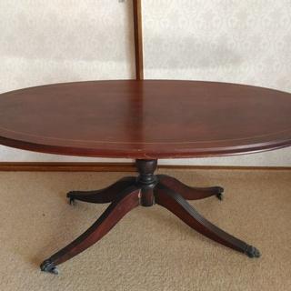 イギリス アンティーク 楕円テーブル 【 ねこ足 】