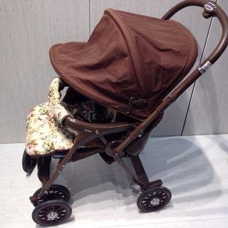 ★1283★Aprica アップリカ ベビーカー UN-サルーン 05424 ブラウン 対面式 赤ちゃん用品 移動用品 散歩 - 高浜市