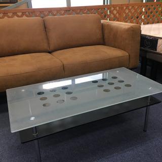 【JB0010】ガラス天板センターテーブル 105×55c…