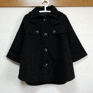 9.ポンチョ風☆9分袖コート