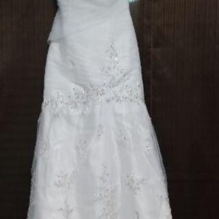 豪華ビーズ&刺繍 ウェディングドレス マーメイド ハートカット