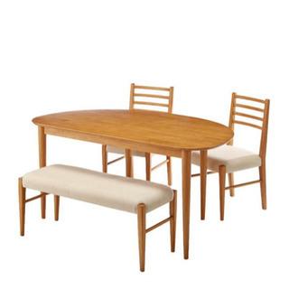 ダイニングテーブル 椅子2脚ベンチシート1