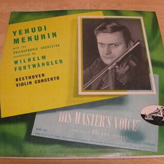67【LPレコード】YEHUDI MENUHIN ベートヴェン ...