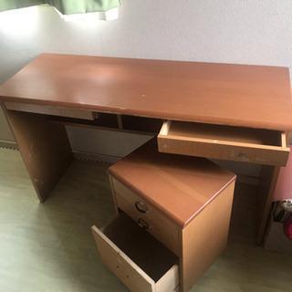 木製ワークデスク(勉強机として使用) - 杉並区