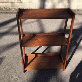 木製 ラック 3段  本棚 飾り棚
