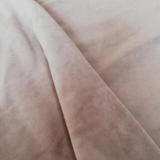 【ベロア調】中古のベージュの掛布団カバー【ダブル】