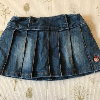 女児デニムスカート インナーズボンタイプ130センチ