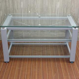 stp-0058 ガラステーブル マガジンラック付き センターテ...