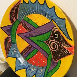 飾り絵 陶器 メキシコで購入