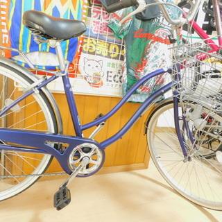 【エコプラス小倉南店】一般自転車 アサヒ 26インチ ブルー☆ス...