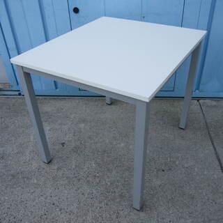 ワークテーブル ホワイト W800 D700 4本脚 100de...