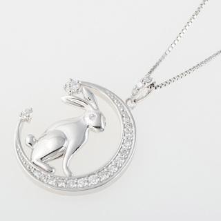 K18WG ダイヤモンド ネックレス (兎モチーフ) 品番7-226