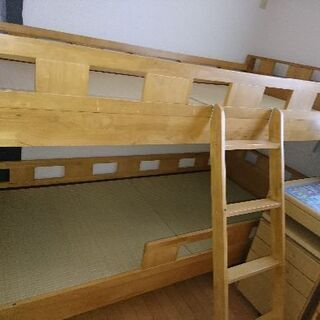【値下げします】木製二段ベッド
