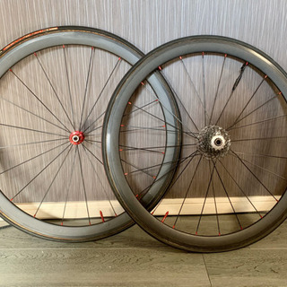 ロードバイク自転車ホイール 超軽量カーボン 前後輪フルセット
