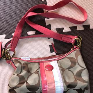 値下げ*\(^o^)/*COACHのショルダーorハンドバッグです。
