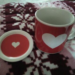 ❤フタ付きマグカップ