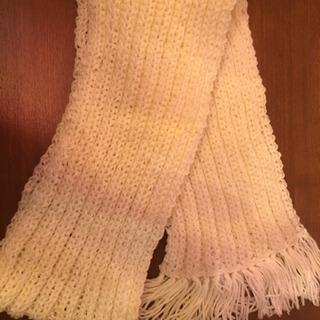 手編み風 マフラー