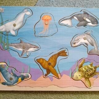魚の木製パズル
