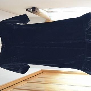 【訳あり格安】ドレス(ワンピース) 黒 半袖 Mサイズ