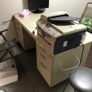 事務所用机、椅子2個セット