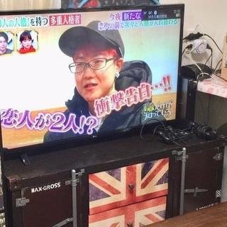 【受付中】英国風アンティーク加工 テレビ台(テレビボード)