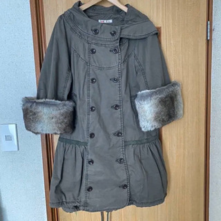 【ダグ付・未使用】モッズコート 袖口ファー