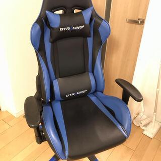 GTRACING ゲーミングチェア  ブルー GT002