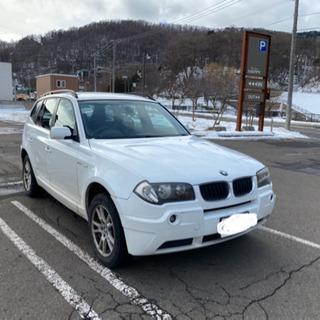 BMW X3 パールホワイト コミコミ価格 夏冬 タイヤホイール付き