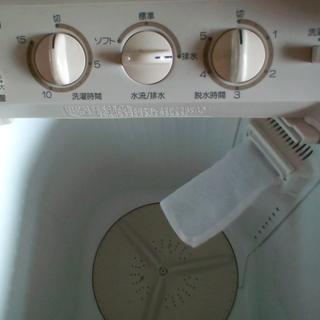 国産 ブランド 2層式 便利 洗濯機! - 家電