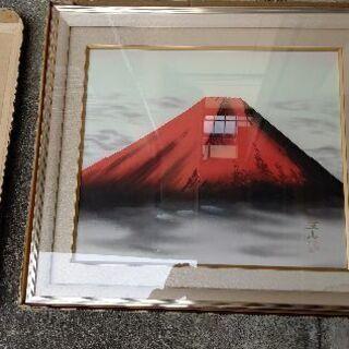 赤富士がくぶち絵、大きいです。