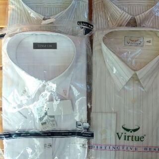 お値下げ 未開封品 半袖ワイシャツ3枚組 Lサイズ 長袖1枚おまけ付き