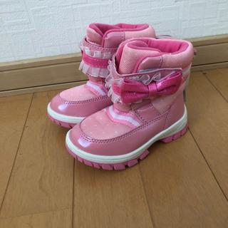 スノーブーツ 14センチ 女の子 ブーツ スノーブーツ リボン ...