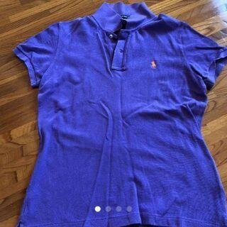 ○RALPH LAURENレディースポロシャツ紫L