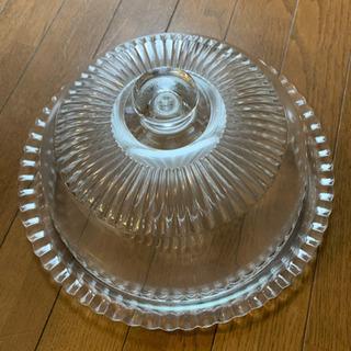 luminerc リュミナークガラス ケーキドームカバー ケーキケース