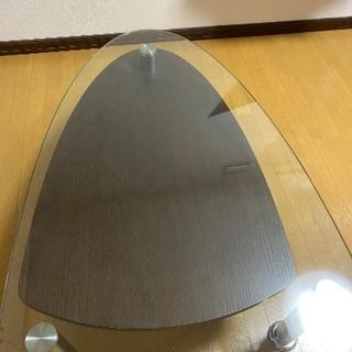 モーダエンカーサ/ガラステーブル ラグリマ(ウォールナット)