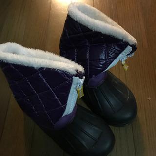 ウインターブーツ 21cm 1回のみ着用 長靴 スノーブーツ
