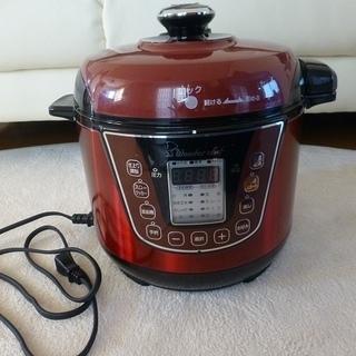 ワンダーシェフ家庭用マイコン電気圧量なべ3.0ℓ美品