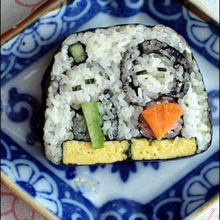 親子でお雛様の巻き寿司教室
